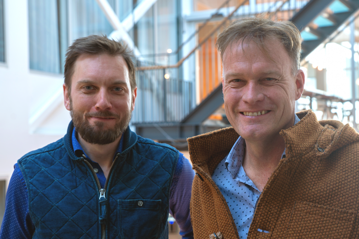 Crunchfish's CTO Paul Cronholm and Joachim Samuelsson, CEO Crunchfish Proximity