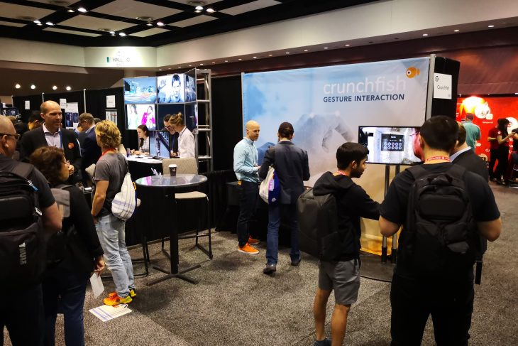 Crunchfish exhibited with its gesture control technology on the